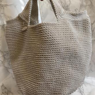 сумка -тоут(цвет шампань)