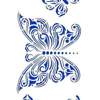 Трафарет 10х31 см Бабочки 2001