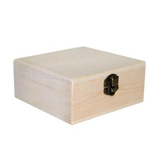 Шкатулка квадратная деревянная 10х10х5 см ольха