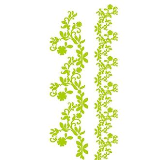 Трафарет многоразовый 11х33 см Растительные бордюры