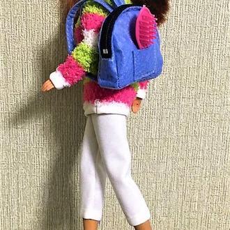 Стильный комплект для Барби весна осень с рюкзаком.