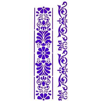 Трафарет декоративный 11х31 см  Цветочный бордюр