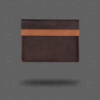 Кожаный чехол для MacBook CaseUS КОРИЧНЕВЫЙ