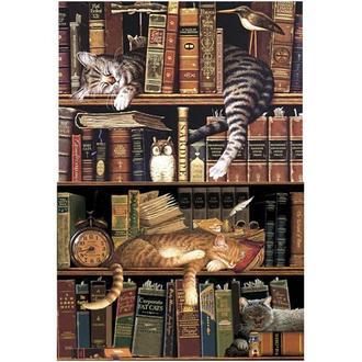 Бумага для декупажа 21х30 см Коты в книгах