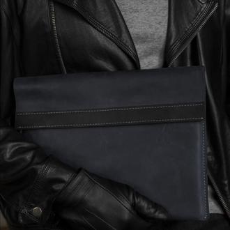 Кожаный чехол для MacBook CaseUS СИНИЙ