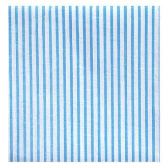 Ткань 50х50 см белая Полоска голубая