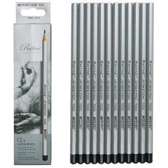 Набор графитных карандашей Marco Raffine Н-4В, 12 шт. картон