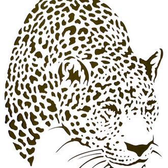 Трафарет Леопард, 21х32 см