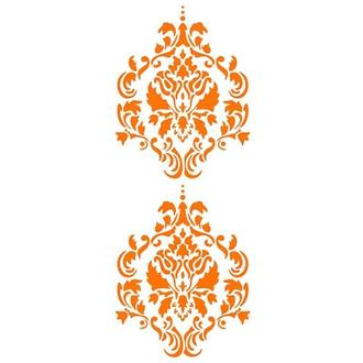 Трафарет 11х33 см Орнамент лилия