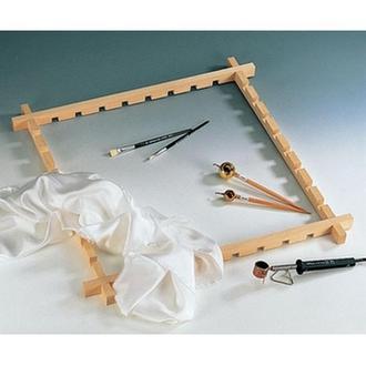 Рама для натяжения шелка с пазами, 50 х 50 см
