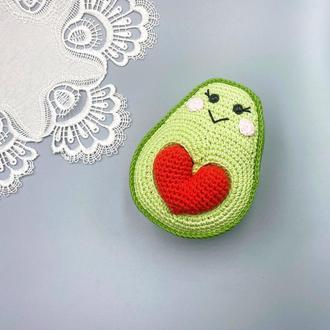 Авокадо з сердечком, валентинка