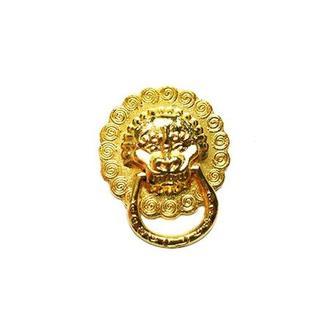 Ручка Голова льва 20х23 мм, золото