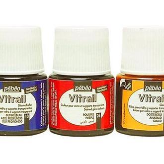Краска (стекло, металл) лаковая прозрачная Pebeo Vitrail, 45 мл
