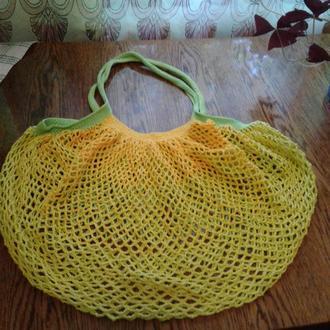 Вязанная крючком сумка-авоська