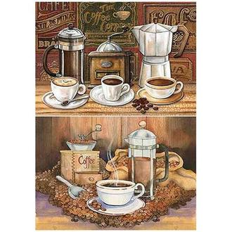 Бумага для декупажа 21х30 см Кофейный натюрморт