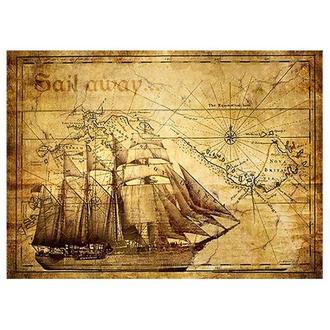 Бумага для декупажа 21х30 см, Старинная карта