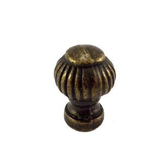 Ручка круглая 19х14 мм, темная бронза