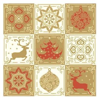 Салфетка Рождественские мотивы 2-7050