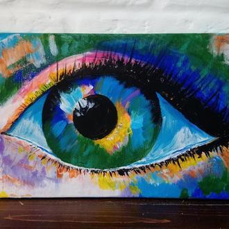 "Картина в стиле поп-арт ""Глаз девушки"""
