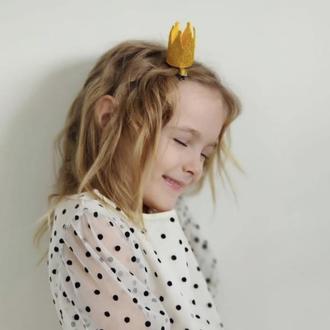 Корона для дівчинки , заколка корона , корона для девочки, корона золота