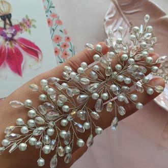 Свадебный гребень для невесты, свадебная веточка, свадебное украшение для волос