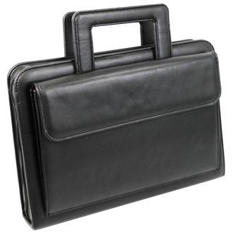 Папка-портфель из эко кожи Portfolio Portak-15 черная