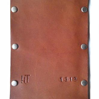 Чехол для iPhone из натуральной кожи коричневый тонкий ручная работа.