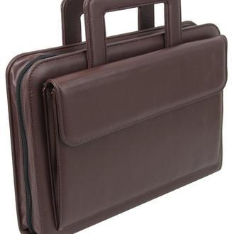 Портфель-папка из эко кожи Portfolio Portak-15 коричневая