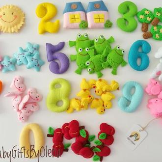 Цифры с игрушками