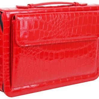 Папка для документов из эко кожи под крокодила Portfolio Portak-19 красная