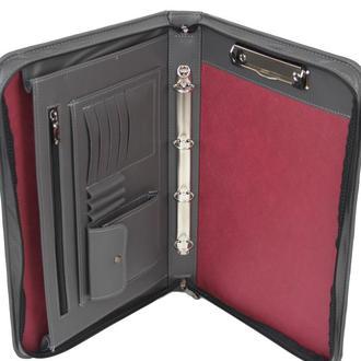 Большая папка-портфель из эко кожи Portfolio Port1010 серая