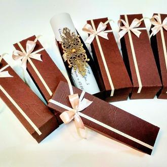 Шоколадні запрошення створені на замовлення наших закоханих.