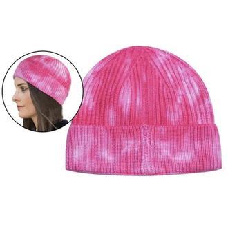 Шапка бини Tie Dye Розовая