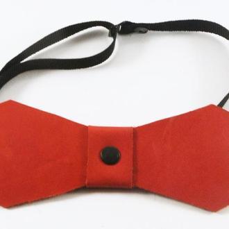 Кожаный галстук-бабочка от мастесркой Wild