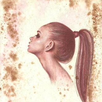 Коса - девичья краса. Рисунок, ручная работа, 2021г Автор - Мишарева Наталья