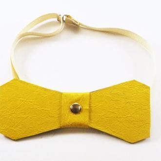 Кожаный галстук-бабочка от мастерской Wild
