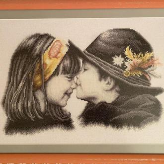 Вышивка «Первый поцелуй»