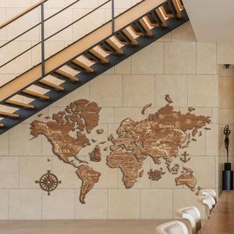 Дерев'яна карта світу