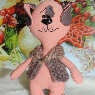 Собака - символ 2018 года. Новогодний подарок. Игрушка Пес. Сувенир.