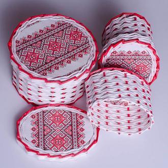Шкатулочка, коробочка плетенная из бумажных трубочек, ручная работа