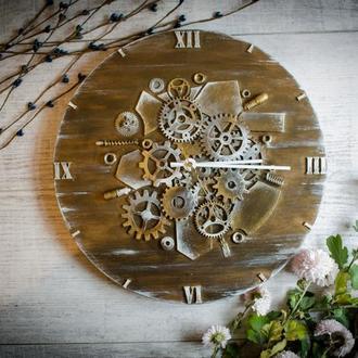 Настенные часы из дерева и метала ′Texas time′