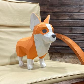 Собака корги - склеенная фигура