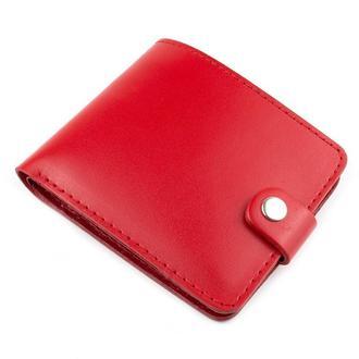 Кожаное портмоне П1-07 (красное)