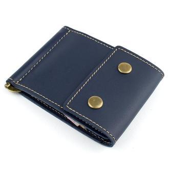 Кожаный зажим для денег Crez-2 (синий)