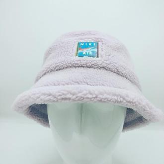Панама nike зимняя (барашек teddy) сирень.56-57р.