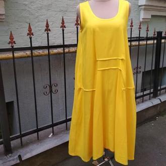 """Сукня жовта """"Метелики"""""""