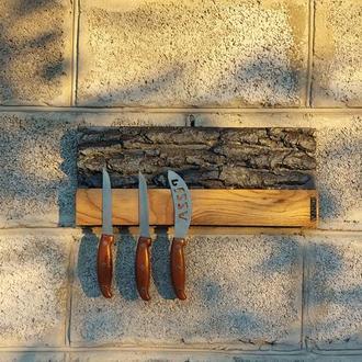 Деревянный магнитный держатель для ножей, Настенная магнитная подставка для ножей