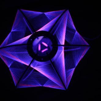 Светильник из флуоресцентных ниток (шар)