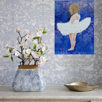 Картина «Маленька балеринка», олія, 30х40