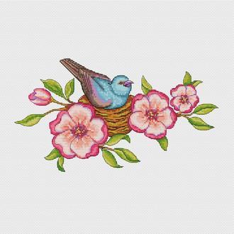 """Схема для вышивания крестиком """"Птица счастья""""CN-2009-PDF"""